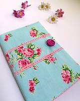 Papiernictvo - Zápisník A5- ružové kvety - 8383706_