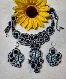 Sady šperkov - Set modré oči - 8382894_