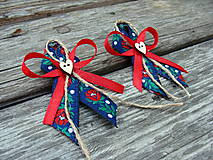 Pierka - Svadobné pierka  Folky modráče - 8383314_