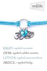 Náramky - KARMA náramok modrý - 8382691_