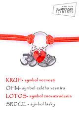 Náramky - KARMA náramok červený - 8382702_