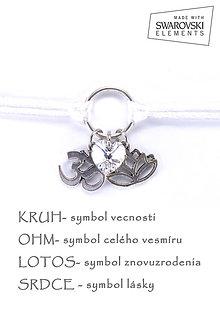 Náramky - KARMA náramok biely - 8382694_
