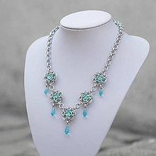 Náhrdelníky - Letní obloha - Swarovski náhrdelník - 8382374_