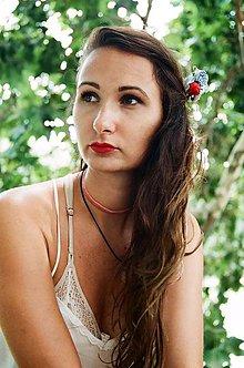 Ozdoby do vlasov - Folklórny kvetinový hrebienok - 8384305_