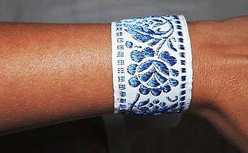 Náramky - Folk náramok modrý - 8382544_