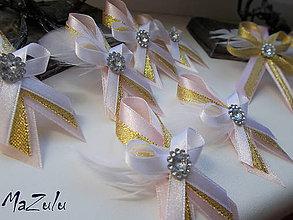 Pierka - svadobné pierko s perím malé - 8383582_