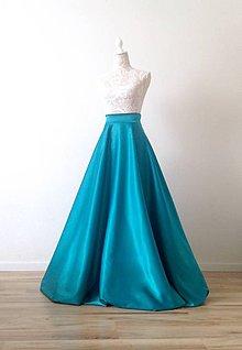 Sukne - Saténová sukňa dlhá kruhová - 8383815_