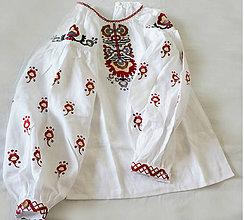 Detské oblečenie - vyšívaná košieľka Vanda - 8382319_