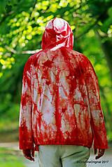Mikiny - Pánska mikina s kapucou, sťahovacia, batikovaná, maľovaná, etno AGNI - 8382436_