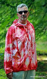 Mikiny - Pánska mikina s kapucou, sťahovacia, batikovaná, maľovaná, etno AGNI - 8382439_