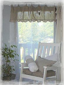Úžitkový textil - Lněná záclona...volánková, rozměr na přání - 8383600_