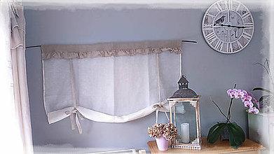 Úžitkový textil - Lněná roletka...volánková, rozměr na přání - 8383613_