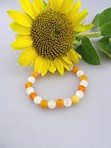 Náramky - achát krištál náramok pomaranče v lade - 8384110_