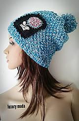 Čiapka pletená - tyrkysový sneh ;)