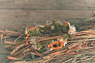 Ozdoby do vlasov - Venček do vlasov slunečnicový s kopretinami - 8382420_
