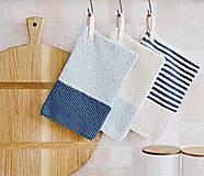 Úžitkový textil - Chňapky EXTRA hrubé - námornícke - 8383800_