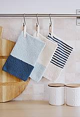 Úžitkový textil - Chňapky EXTRA hrubé - námornícke - 8383801_