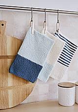 Úžitkový textil - Chňapky EXTRA hrubé - námornícke - 8383803_