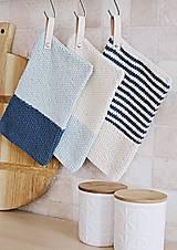 Úžitkový textil - Chňapky EXTRA hrubé - námornícke - 8383804_