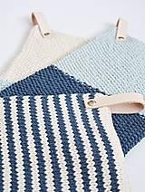 Úžitkový textil - Chňapky EXTRA hrubé - námornícke - 8383805_