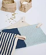 Úžitkový textil - Chňapky EXTRA hrubé - námornícke - 8383807_