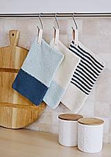 Úžitkový textil - Chňapky EXTRA hrubé - námornícke - 8383808_