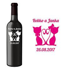 Darčeky pre svadobčanov - Svadobná etiketa Kitty - Vyrezávané etikety, Svadobné etikety, Etikety na víno, Vinylové etikety, Etikety na fľaše, Nálepky na víno - 8382596_