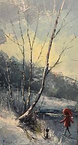 Obrazy - Na zamrzlém rybníku - 8383985_