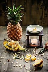 Svietidlá a sviečky - Vonný vosk - ananás - 8382118_