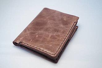 Peňaženky - Pánska kožená peňaženka, hnědé obšití - 8381997_