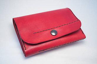 Peňaženky - Kožená peňaženka MontMat-červená - 8382039_