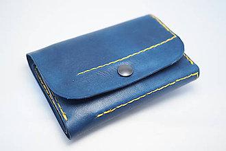 Peňaženky - Kožená peňaženka MontMat-modrá - 8382040_