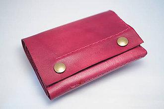 Peňaženky - Kožená peňaženka MontMat-bordo - 8382043_