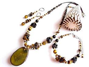 Sady šperkov - Tagua marrón - 8382371_