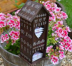 Krabičky - Čičmanský domček na čajové vrecúška - 8383351_