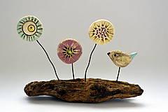 Socha - Keramická dekorácia Lúčne kvety - 8382239_