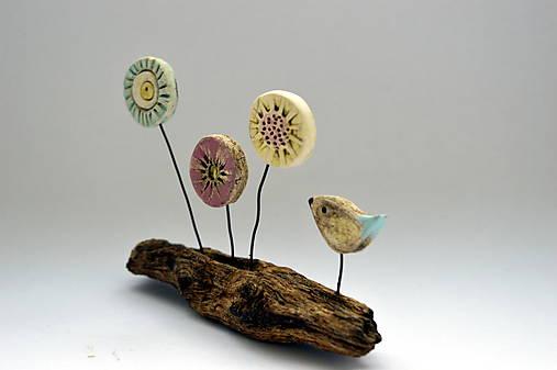 Keramická dekorácia Lúčne kvety
