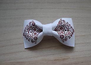 Doplnky - šuhaj maľovaný - červený motýlik - 8384034_