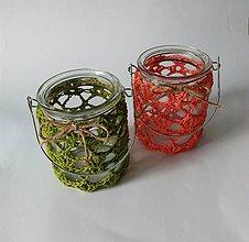 Svietidlá a sviečky - Háčkované
