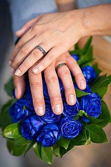 Prstene - Emailové obrúčky - 8386630_