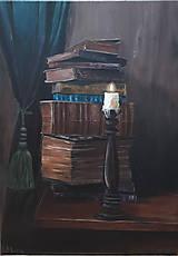 - knihy - olejomaľba - 8385812_