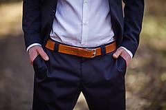 Doplnky - Men's belt - 34mm wide - Light brown - 8385075_