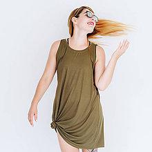 Šaty - Šaty so zipsom Khaki - 8386309_