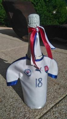 Nádoby - Oblečenie na šampanské- futbalový dres - 8385721_