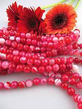 achát červený 10mm korálky