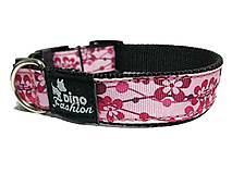 Pre zvieratá - Obojok Pink Flowers - 8384795_