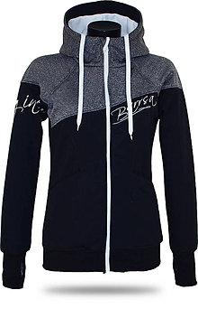 Mikiny - Dámska softshell bundomikina s kapucňou na zips Barrs Double Soft Script Grey Melange / Black - 8385597_