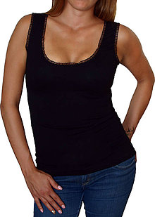 Tielka - Dámské tílko Barrsa Summer Lady Lace - black - 8385616_