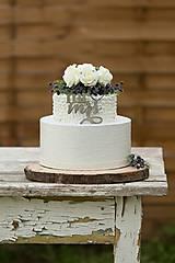 dekoračný box / svadobná torta Čučoriedka