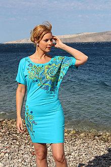 Šaty - Maľované, letné šaty... - 8386033_